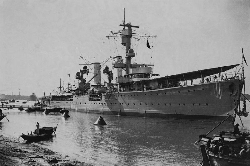 The German cruiser the