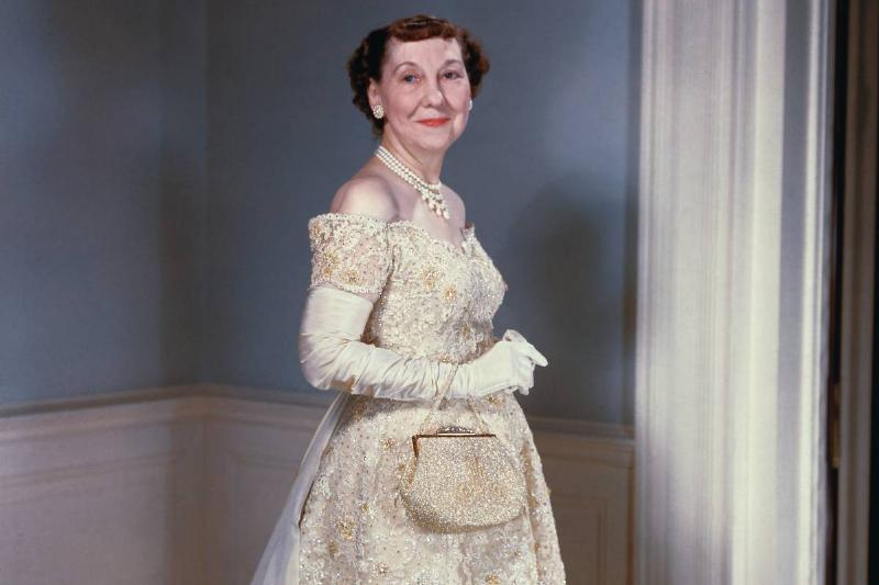 Mamie Eisenhower's Second Inaugural Gown Had Crystals