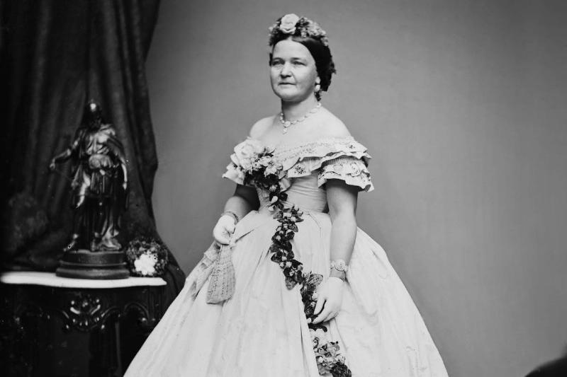 Mary Todd Lincoln, 1861 Inaugural Gown
