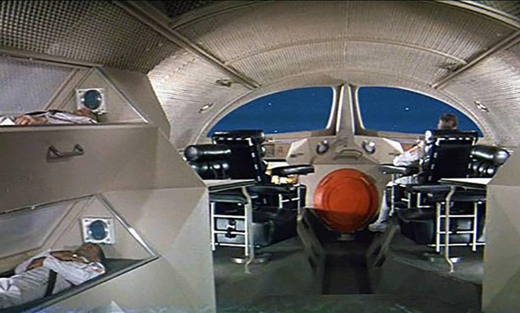 Inside spaceship