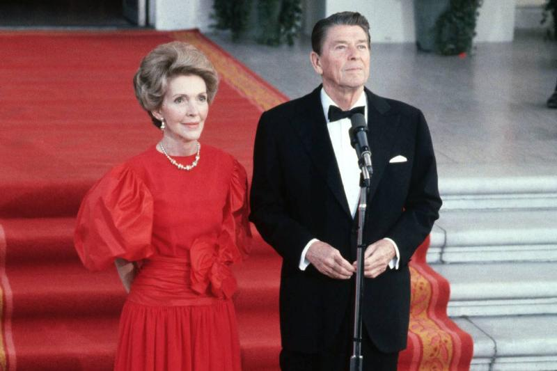 Nancy Reagan Making History In Red