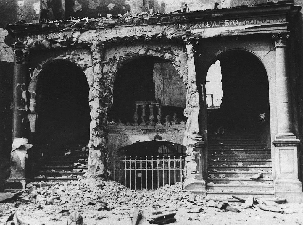the Königsberg Castle after getting damaged