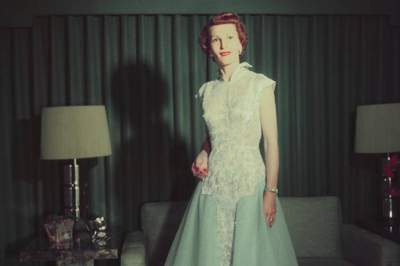 Pat Nixon Posing in Her Inauguration Gown
