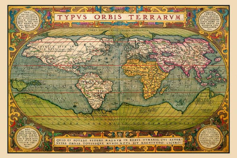 This map of the world is from 1602 Spain.