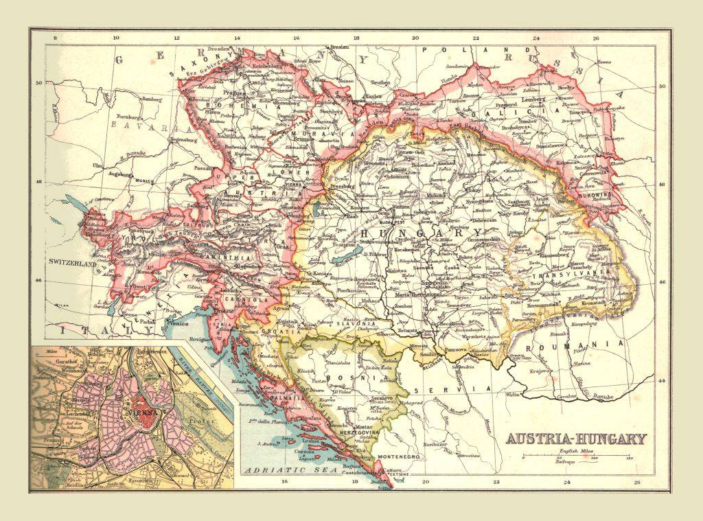 Map of Austria-Hungary