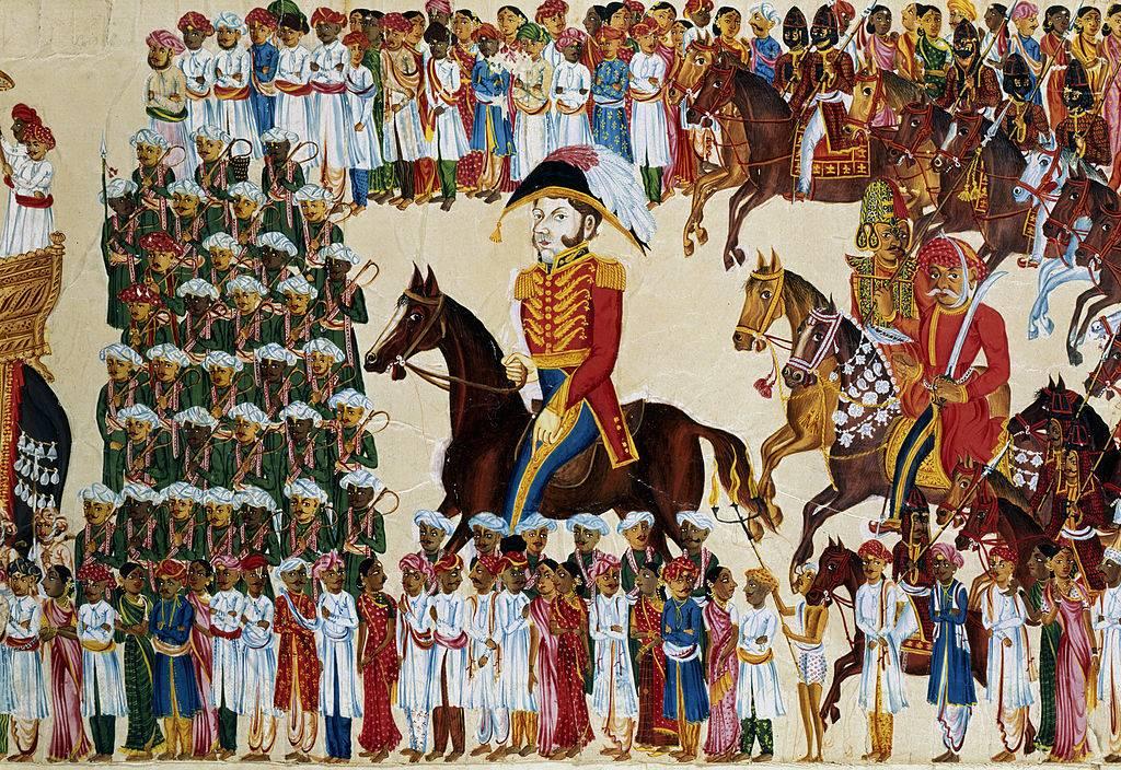 Painting of the British