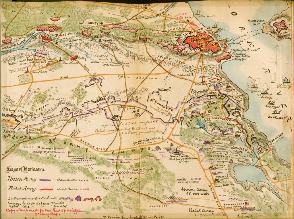 Map of Yorktown