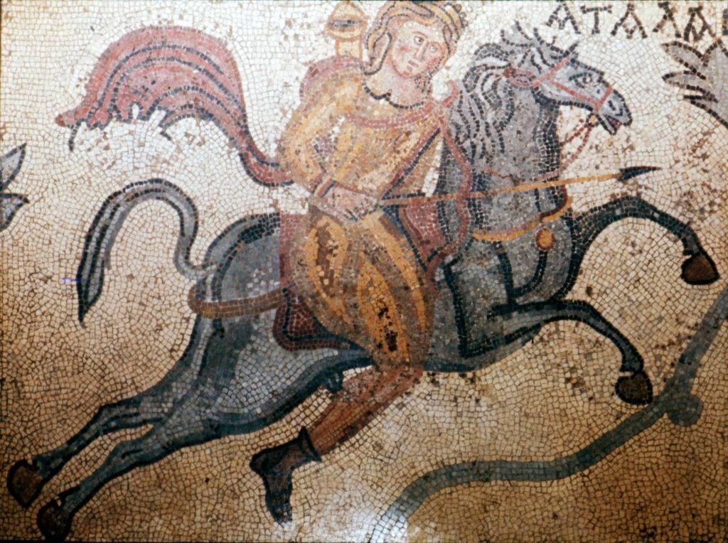 Mosaic of warrior