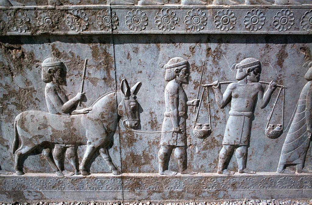 Picture of stone relief