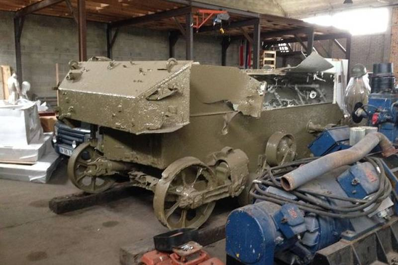 process of cleaning up the m5 tank
