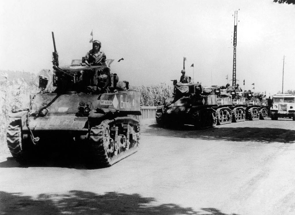 French tank M5 during Provence Landing On August 15,1944