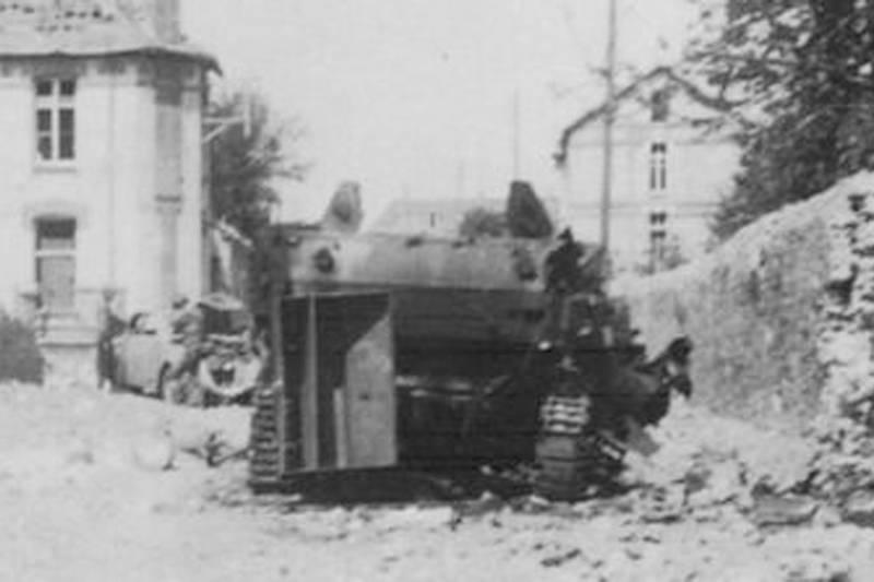 photo of the m5 tank before it was buried
