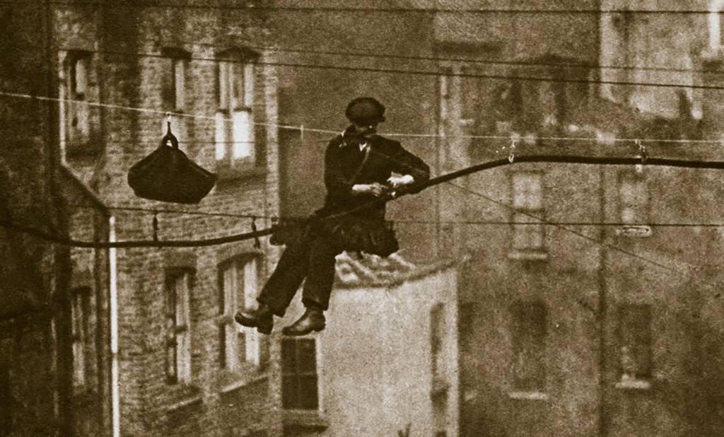 Man repairing phones