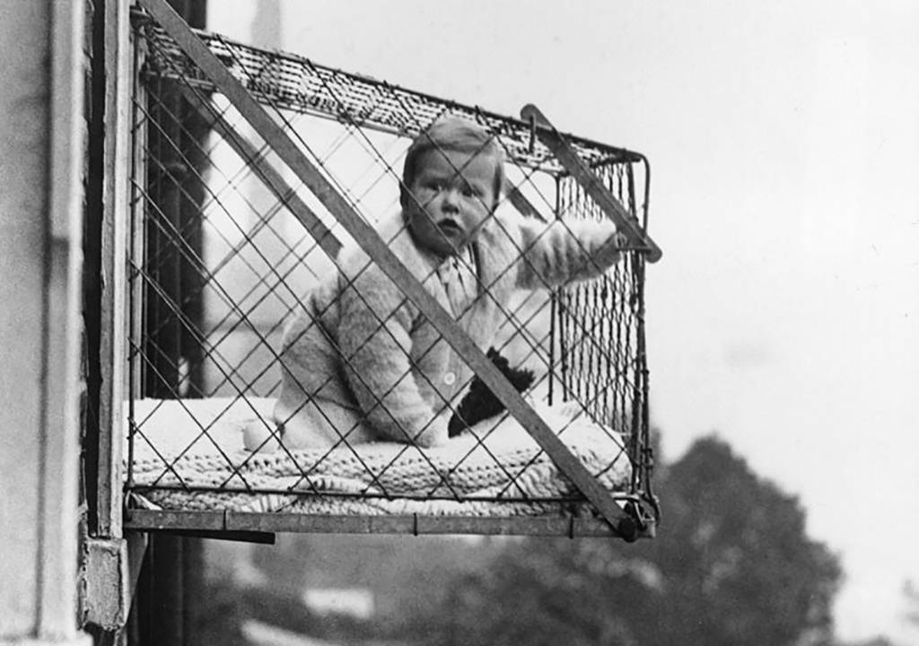 baby in a cage