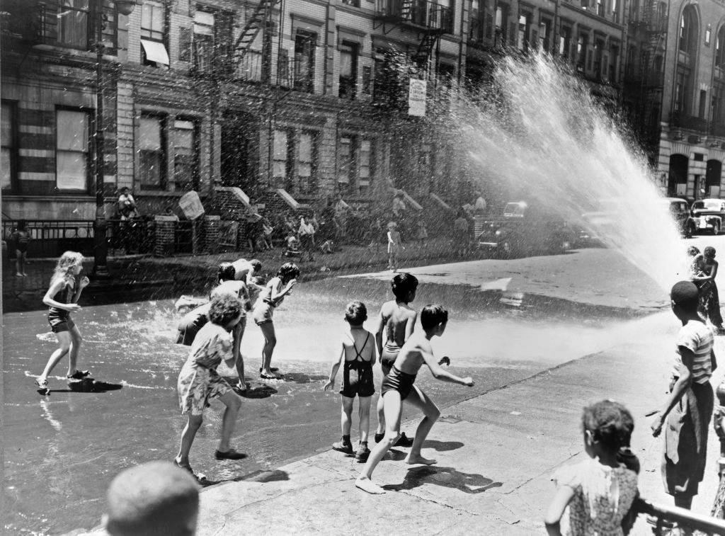 Kids playing in water