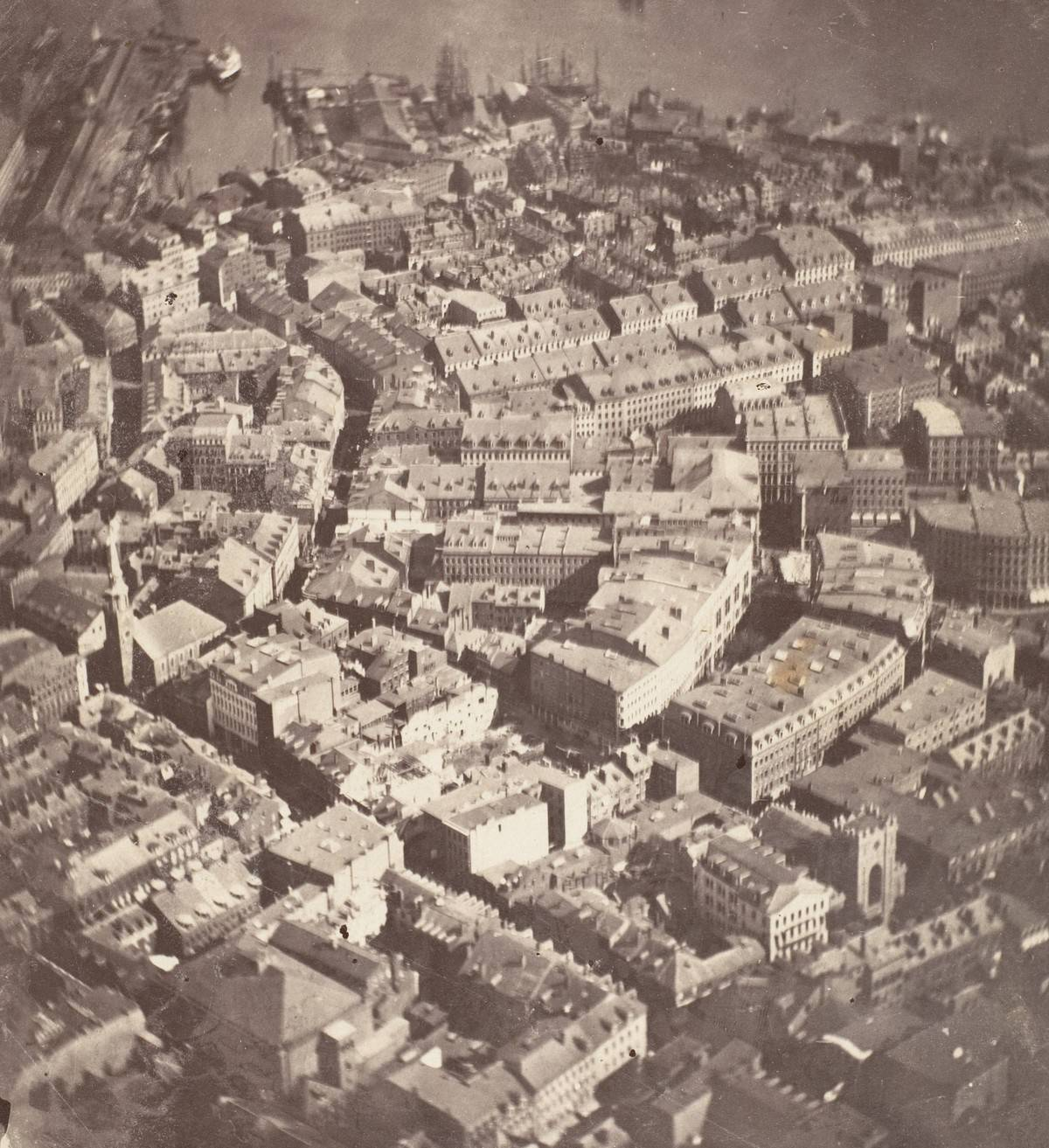The first aerial picture of Boston dates back to 1860.