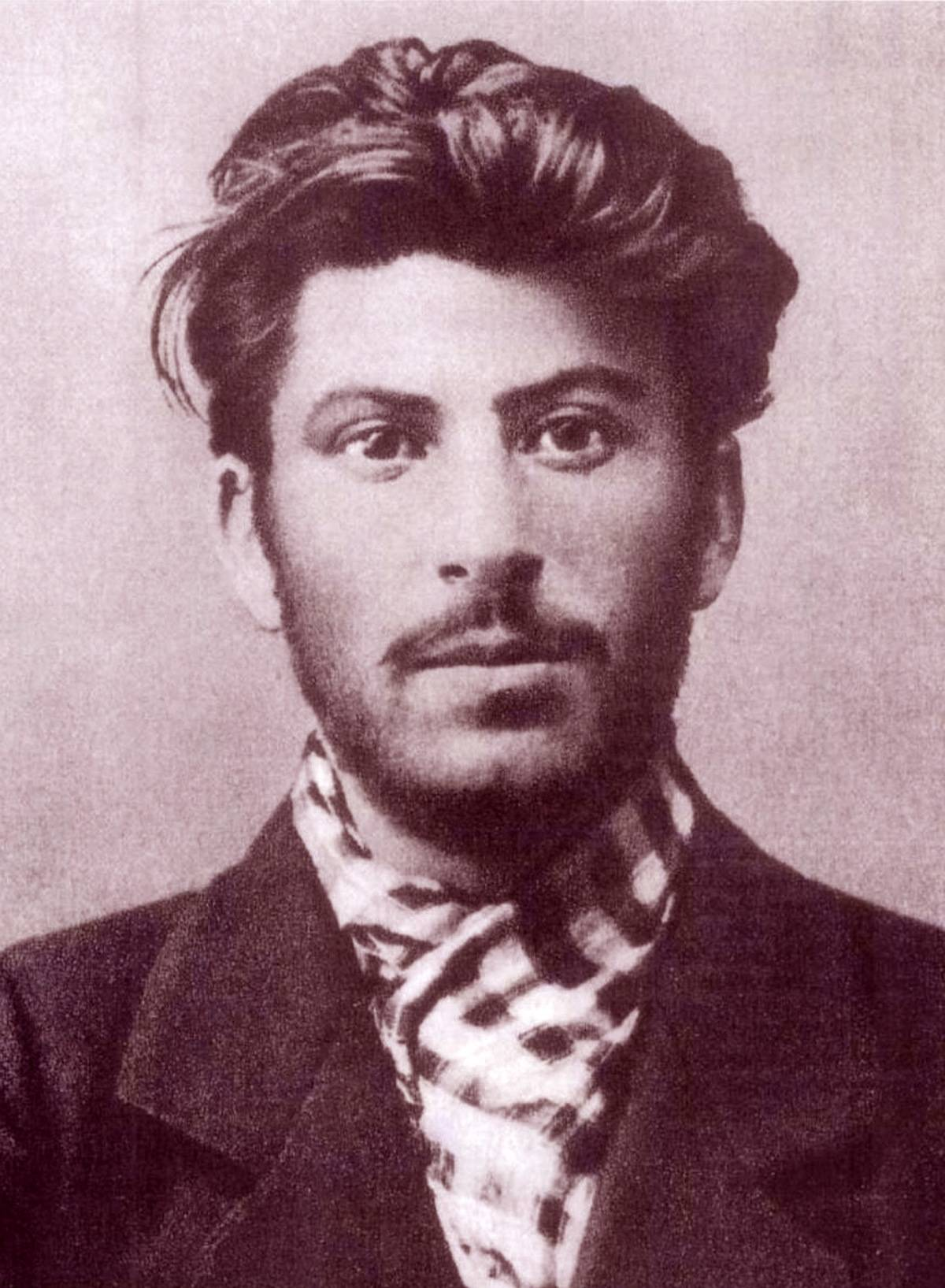 Josef Stalin is pictured in 1901 at age 23.