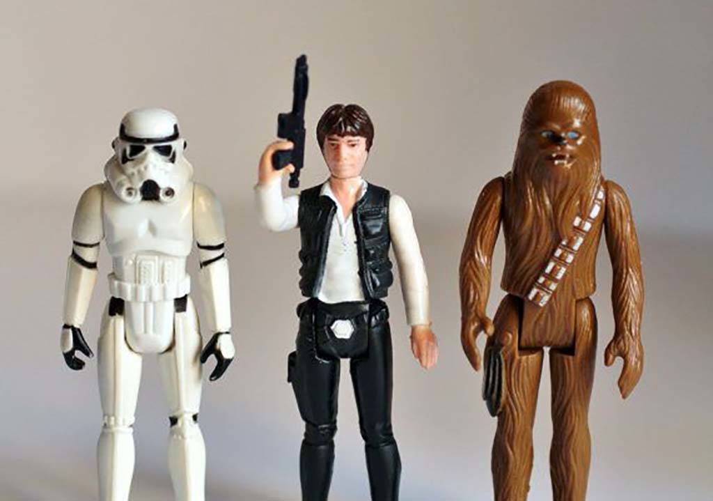 Picture of Star Wars action figures