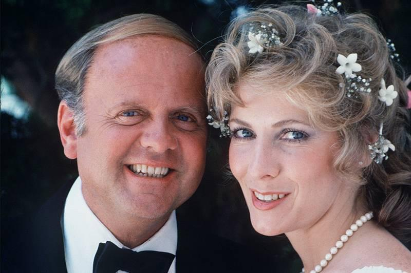 betty buckley in a wedding outfit with dick van patten