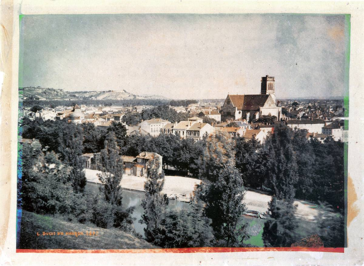 The first colored landscape photograph shows the southern French countryside.