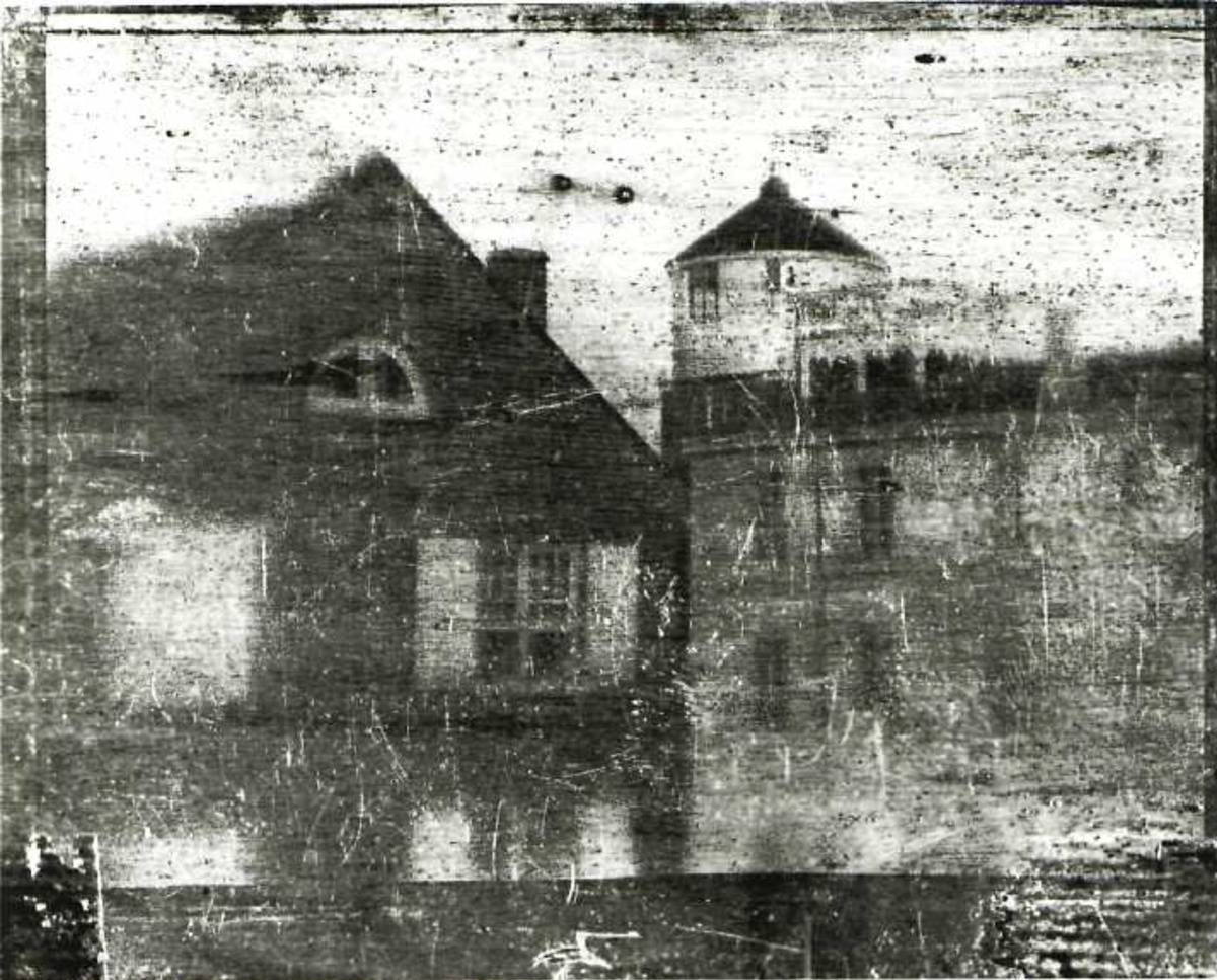 The first photo taken in the United States depicts Central High School in Philadelphia.