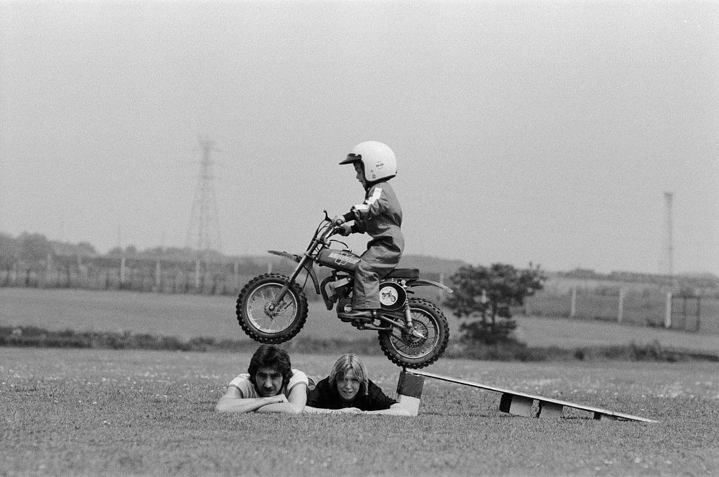 Kid on a dirtbike