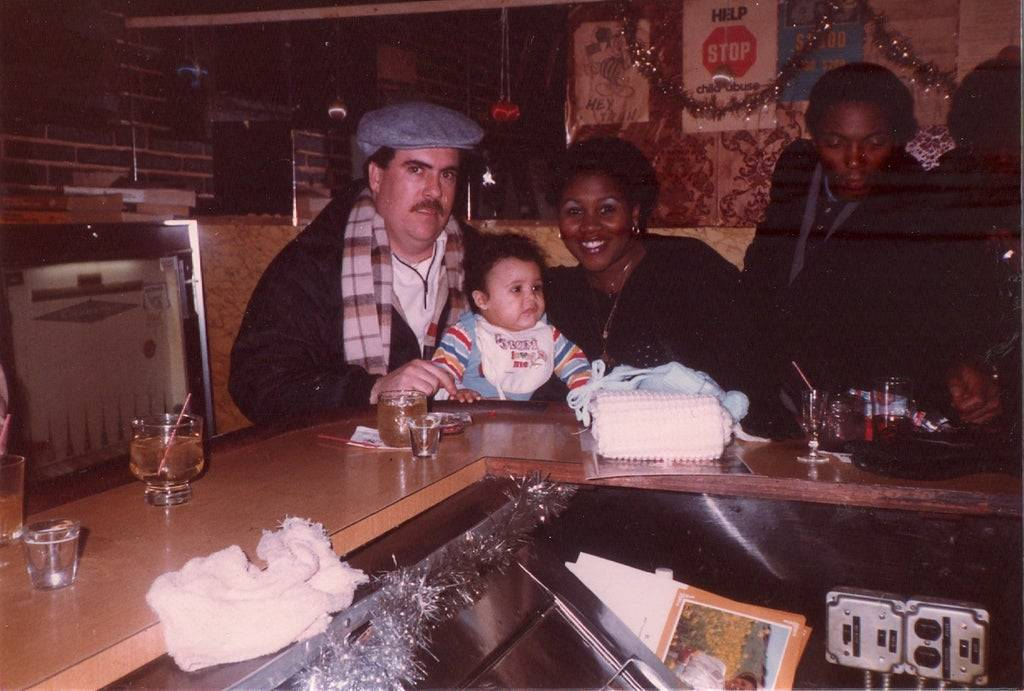 Picture of a baby in a bar