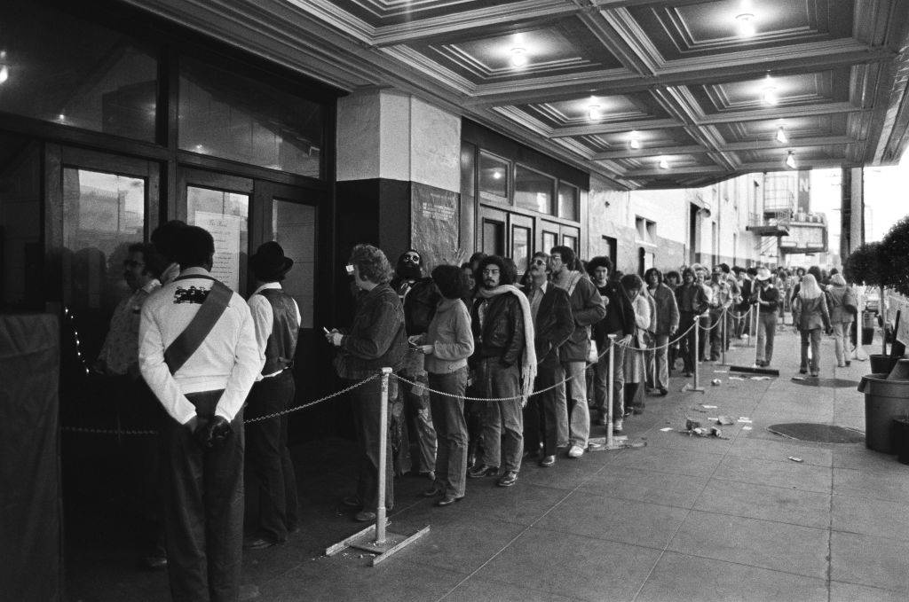 People in line