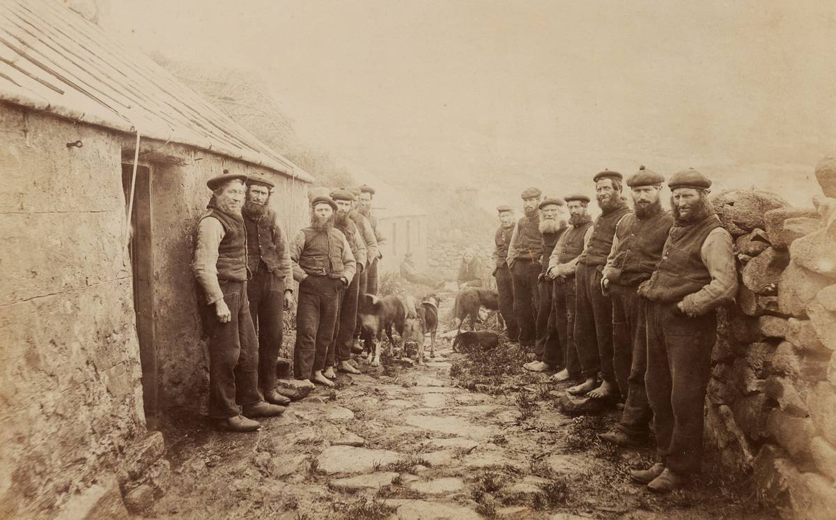 Men of St. Kilda gather for a