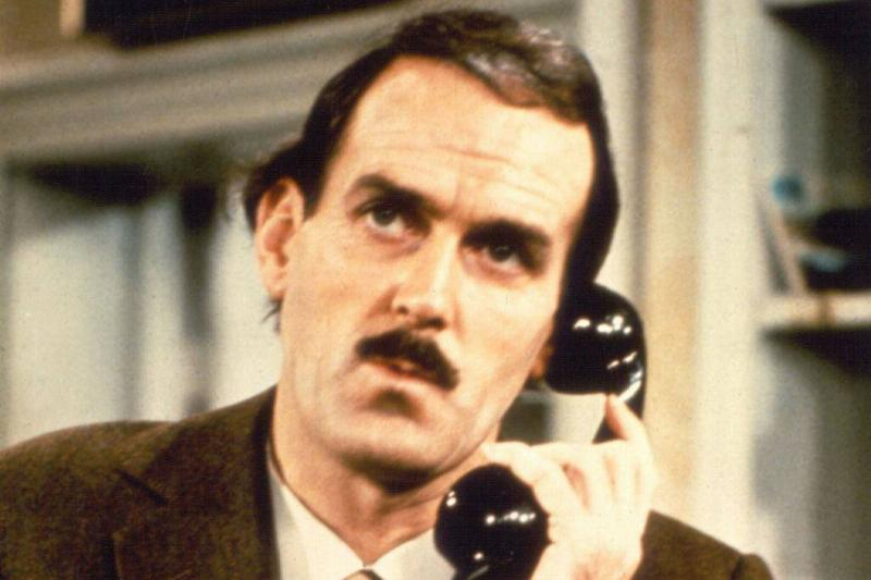 John Cleese as Basil Fawlty on Fawlty Towers