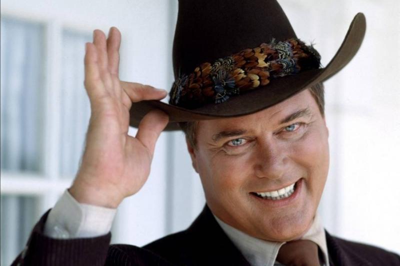 Larry Hagman as J.R. Ewing on Dallas