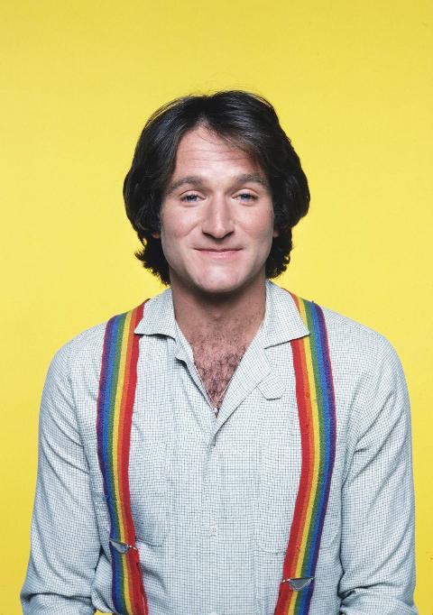 Robin Williams as Mork on Mork & Mindy