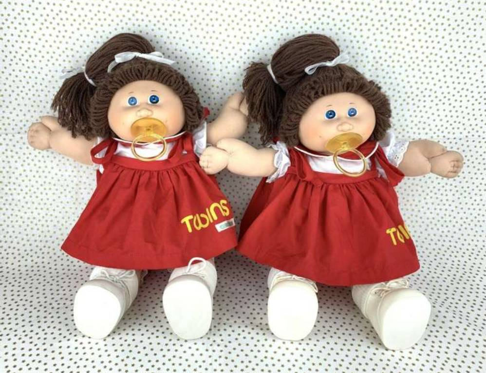 The Twin Girls From Tsukuda, Japan Cabbage Patch Kids are seen together.