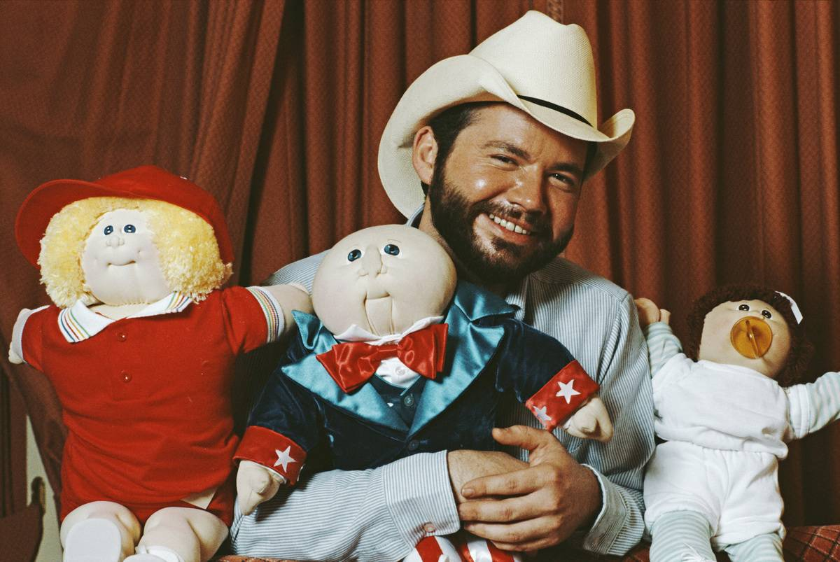 Xavier Roberts, the creator of the Cabbage Patch Doll's holds a collection of Cabbage Patch Kids.
