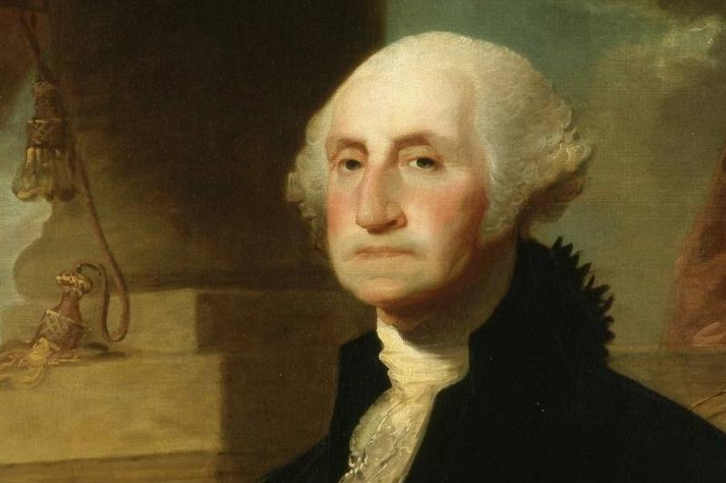 A painting from 1794 portrays George Washington.