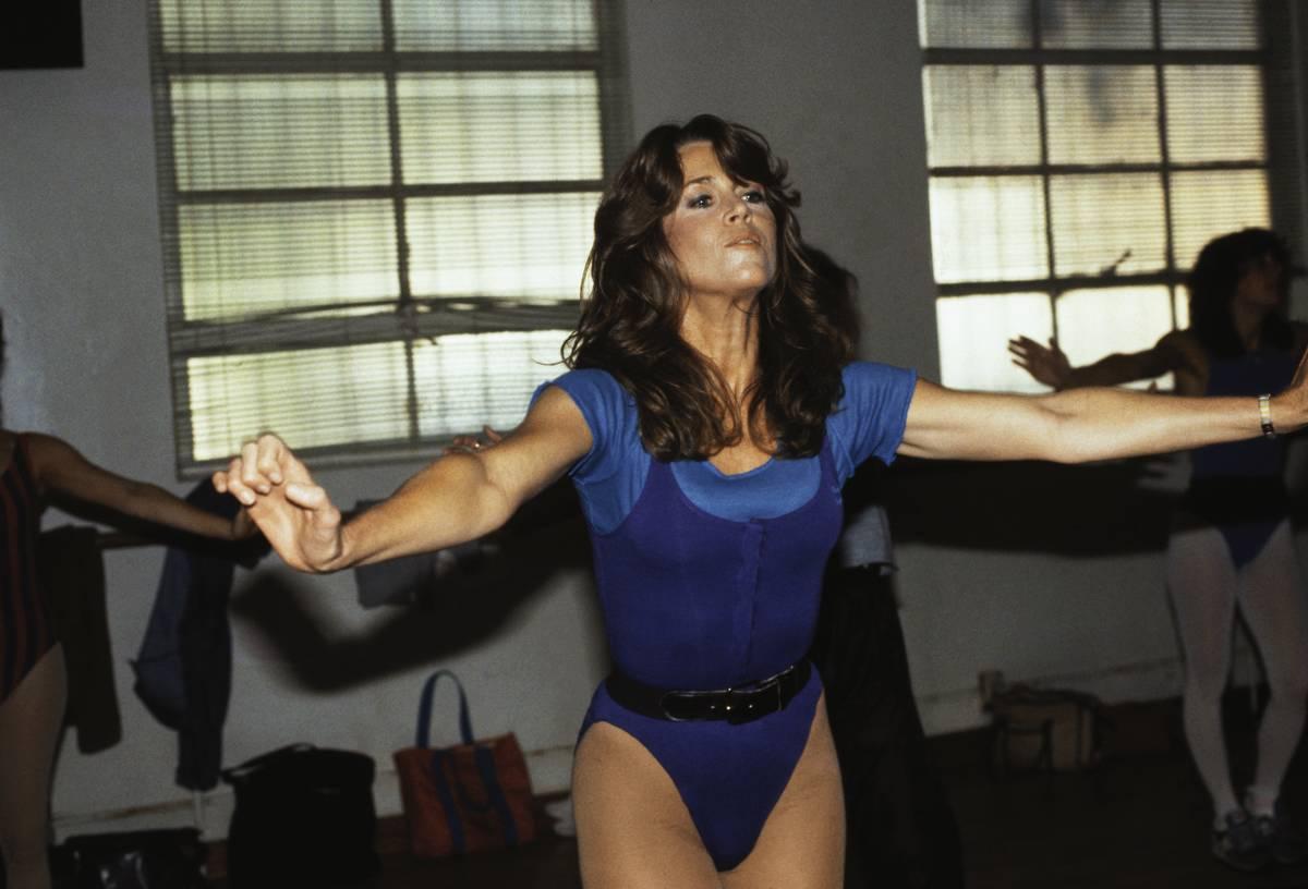 Actress Jane Fonda Exercising