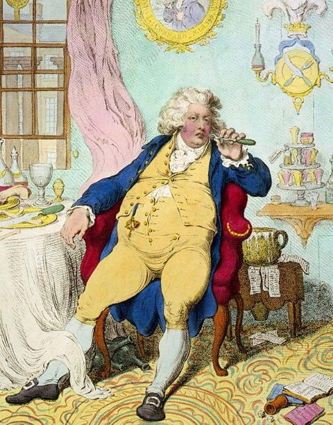 George IV after eating a meal