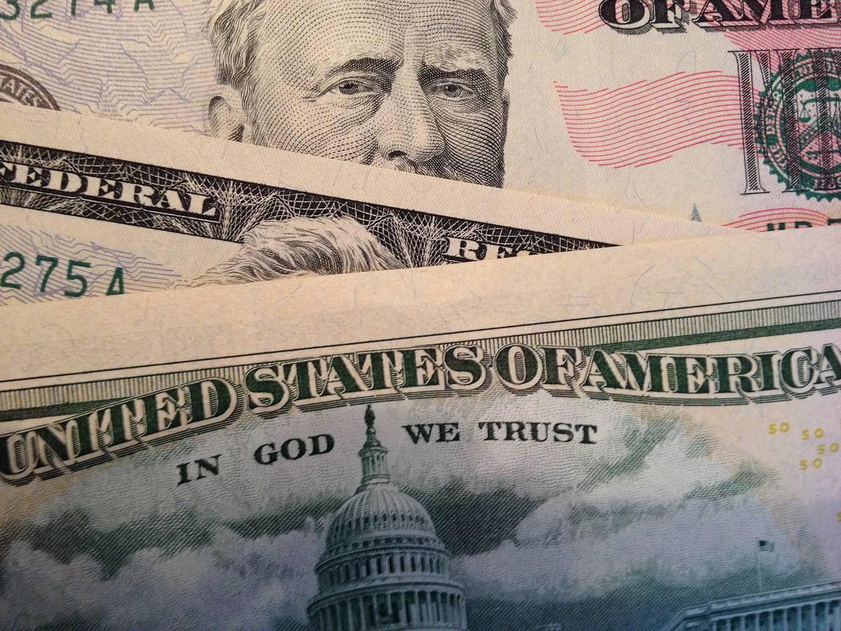 The motto is seen on U.S. dollar bills.