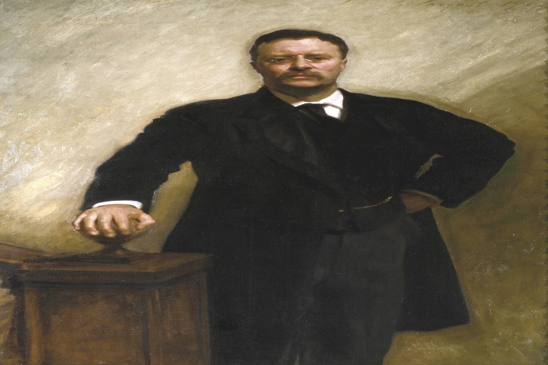 A 1903 portrait shows Teddy Roosevelt.
