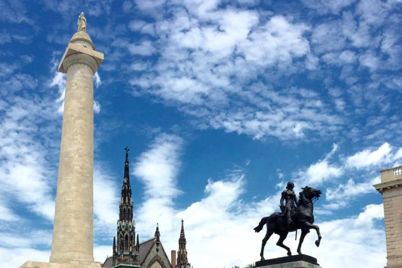 The Washington Monument is seen fully repaired.