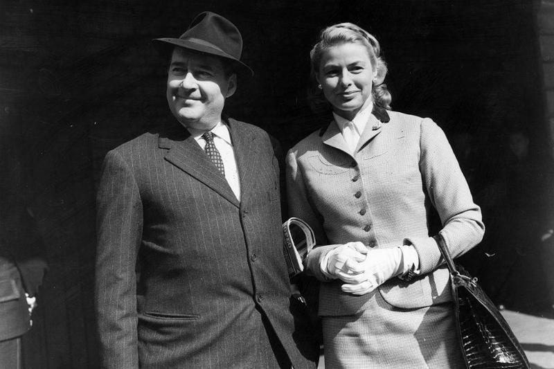 Roberto Rossellini and Ingrid Bergman in 1956