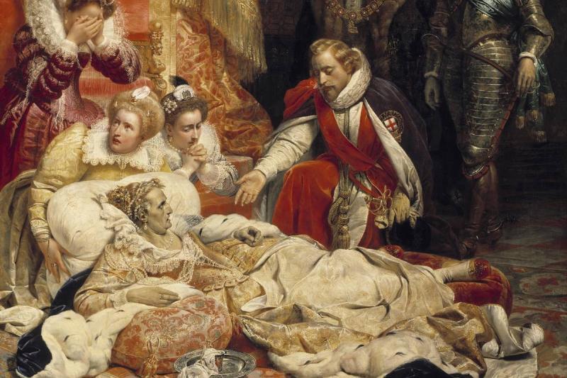 The death of Elizabeth I, Queen of England, in 1603 by Paul Delaroche