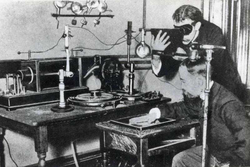 early method of testing the output of X-rays