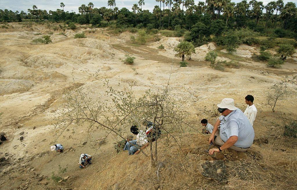 digging site in myanmar
