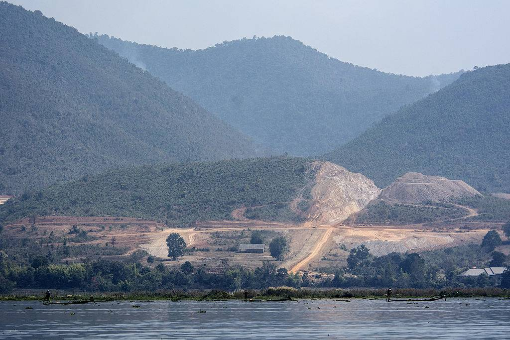 a lake in myanmar