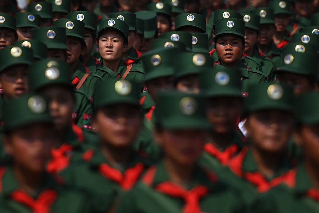 soldiers in the myanmar army
