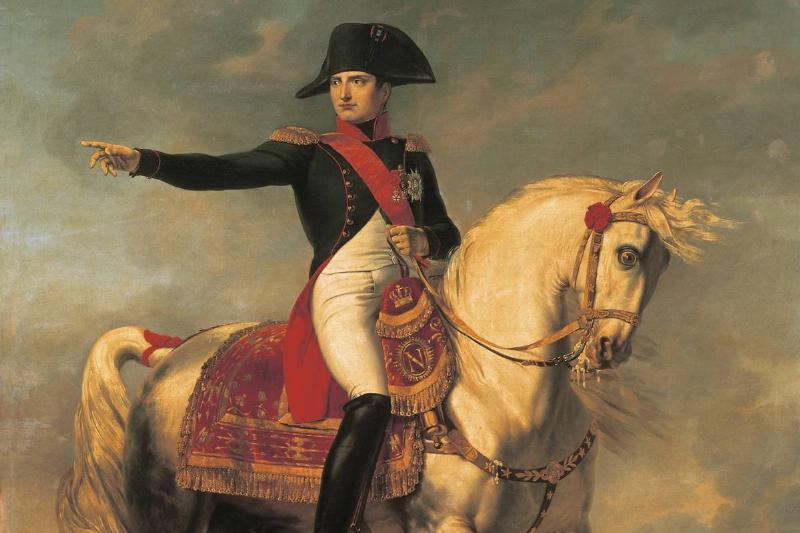 Equestrian portrait of Napoleon I