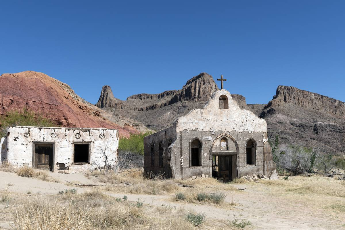 The Contrabando, a ghost town within Big Bend Ranch State Park, west of Lajitas, Texas, on Texas Sta