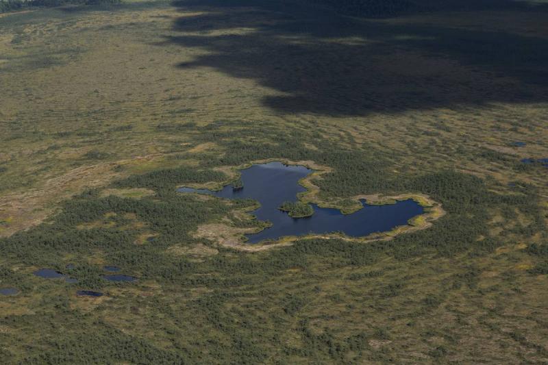 Aerial View of Tartussaare Tagajarv.