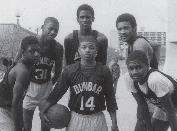bogues high school team posing